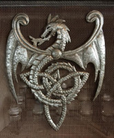 celtic dragon wall art, knot , haitian metal art