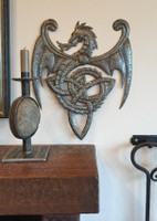 haiti metal art , celtic dragon with knot