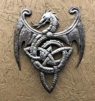 Metal Dragon, Artistic Haitian Wall Hanging Sculpture