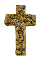 yellow cross with milagro charms
