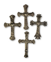 - Large Wall Cross Collection, Religious Haitian Metal