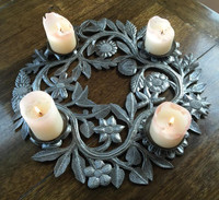 Centerpiece wreath with candles