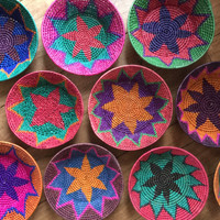 classic traditional Mexican Baskets - love the colors