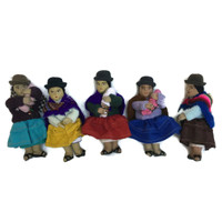 group of Bolivian women in traditional dress
