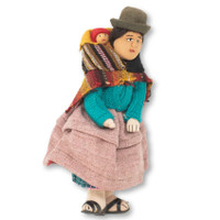 Cholita Doll Bolivia, Wool Sweater, Traditional Dress