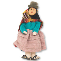 Bolivian custom to carry baby on back