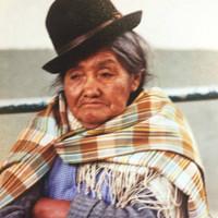 Cholita, Bolivian woman in La Paz with Bowler Hat