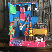 brightly colored whimsical folk art Mexico