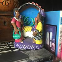 Ocumicho Mexico Fruit Stand Folk Art