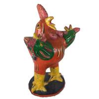 Three Headed Rooster by Serapio Medrano Hernandez, son of renowned ceramics sculptor Candelario Medrano.