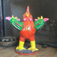 Singing Three Headed Rooster by Serapio Medrano Hernandez, son of renowned ceramics sculptor Candelario Medrano.