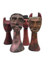 Artisan Top Head Wood Carvings