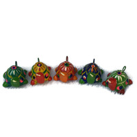 hand painted and hand sculpted clay beads from Guatemala Turtles Fair Trade
