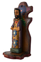 This wooden figure of Christ is hand-carved in family workshops in very tiny villages surrounding Chichicastenango.