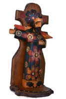 hand carved wooden Saint Francis Guatemala
