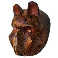 Jaguar dance mask , hand carved traditional folk art , High Lands