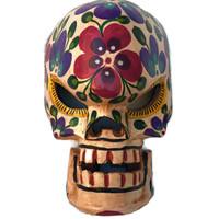 hand carved traditional skeleton mask