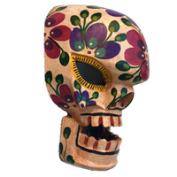 day of the dead wooden mask , Guatemalan wood carving