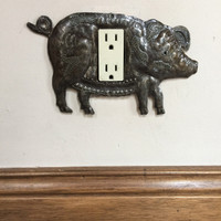 pig outlet cover, rocker outlet cover