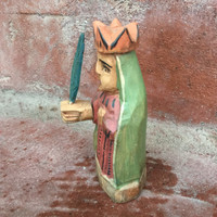 Our Lady of Guadalupe, Mini Artisan Crafted Wooden Saints