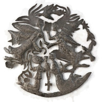 Angels and People, Christianity, Religious, Free Trade, Recycled Metal Steel