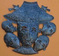 Haitian Metal, Unique Art, Birds, Farmers, Recycled Metal, Sustainable, Eco-Friendly,