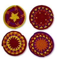 hand knit colorful guatemalan purse