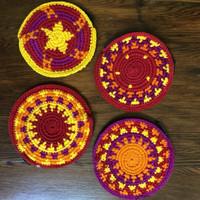 hand crocheted flat purse fair trade project guatemala