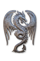 Flying Dragon, Mystic, Mystical Creature, One-of-a-Kind, Limited Edition, Sustainable, Eco-Friendly, Recycle, Recyclable, Oil Barrels, Oil Drums, Handcrafted, Handmade, Metal, Steel