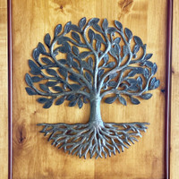 Up-cycled Metal wall Tree of life