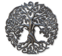 Small Celtic Tree of Life, Metal Wall Art, Fair trade from Haiti, 17.25""