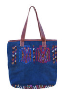 Handbag Made from Huipil Blouse, Bird Motifs, Tote Purse, Roomy Shoulder Bag, Handmade from Recycled Hui-Pile Blouse, Rich Colored Handbags (Style 1)