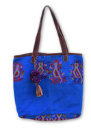 Women Purses and Handbags, Handbag Made from Huipil Blouse, Bird Motifs, Tote Purse, Roomy Shoulder Bag, Handmade from Recycled Hui-Pile Blouse, Rich Colored Handbags (Style 1)