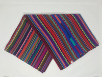 Purple Table Cover, Cotton, Handmade in Guatemala, Handwoven, Eclectic Home Decor, 57x38
