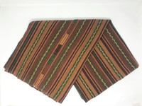 Brown Table Cover, Cotton, Handmade in Guatemala, Handwoven, Eclectic Home Decor,