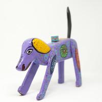 Dog, Candle Holder, Colorful, Folk Art