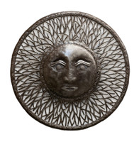 "Handcrafted Recycled Metal Sun Wall Art 23.25"" x 23.25"""