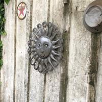 farmhouse wall art, metal sun