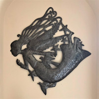 HAITIAN STEEL ART UP-CYCLED FAIR TRADE ANGEL WALL ART