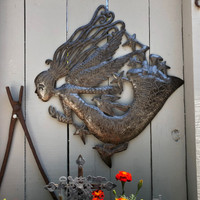 INDOOR OUTDOOR METAL ART HAND HAMMERED ANGEL