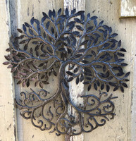 Farmhouse wall decor, recycled metal