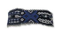 "Handmade Bracelet, Turquoise, Blue and Silver Tones, Beaded, Magnetic Closure, Friendship, Shabby Chic, Boho Look, Gift, Women Fashion, Handmade in Guatemala 1"" x 6.75"""