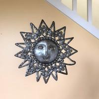 Wall Decor, Metal sun art
