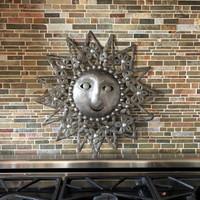 """Farmhouse decor, Recycled Metal Sun Wall Art 23"""" x 23"""""""