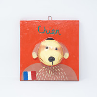 French, Chier, One-of-a-Kind, Limited Edition, Sustainable, Eco-Friendly, Handmade, Handcrafted, Hand Painted, Dog, Perro, Furry Compantion, Ortega Ceramics, Hecho en Mexico, Folk Art, Whimsical Art