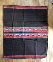 Culta Aguayo or  Manta Bolivia worn and repaired, Vintage Textile
