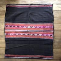 Llallagua Aguayo or  Manta Bolivia worn and repaired, Vintage Textile