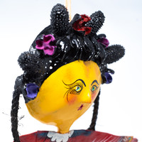 Coconut Mask Dolls, Mexican Folk Art, Mexico, Viva Mexico, Hecho en Mexico, Made in Mexico