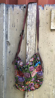 Women Purses and Handbags, Mayan Arts Guatemalan Woven & Leather Handbags, Bohemian Purse, Antigua Colorful Hand or Shoulder Bag, Stitched Roses and birds motifs, Huipil Recycled Blouse