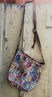 Women Purses and Handbags, Bohemian Purse, Antigua Colorful Hand or Shoulder Bag, Stitched Roses and birds motifs, Huipil Recycled Blouse